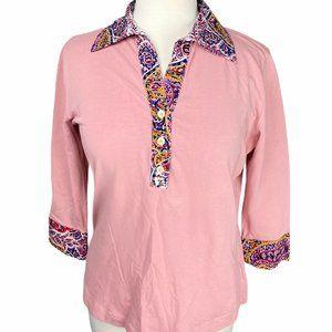 BOGNER Women's Pink Floral Collar